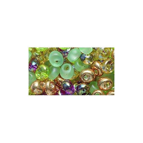 Miyuki Magatama Seed Bead, 4mm, Drop Mix, Earthtones, 25-Gram/Pack ()