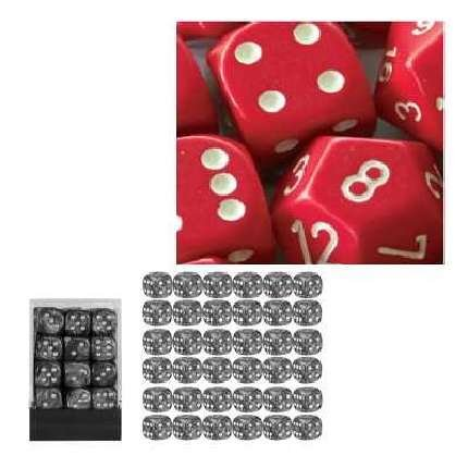 お待たせ! Chessex Manufacturing 25804 Opaque Red Red B000CEDJL6 With White - 12 Dice mm Six Sided Dice Set Of 36 B000CEDJL6, ブライダルアクセ専門店ブルージュ:50290624 --- cliente.opweb0005.servidorwebfacil.com