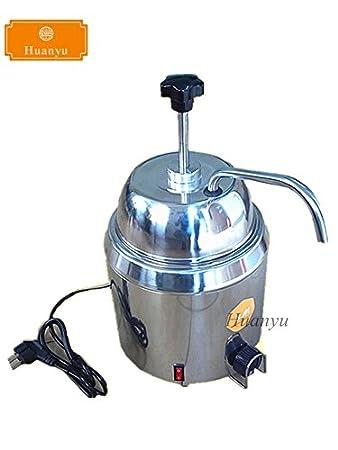 Huanyu 3.8L Hot Fudge Nacho queso calentador de dispensador de Chocolate Queso Chocolate agua calefacción calentador de máquina: Amazon.es: Hogar
