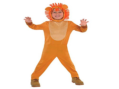 Amscan Wild Jungle Animals Themed Lion Costume Wearables Fabric Small Pack 2 Supplies (6 -