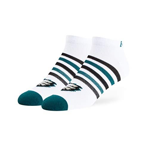 (OTS NFL Philadelphia Eagles Venom Low Cut Ankle Socks, White, Large)