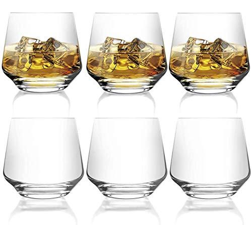 [6-Pack,12.9 Oz]DESIGN•MASTER-Premium Fashion Whiskey Glasses, Large-capacity Scotch Whisky, Bourbon, Cocktails, RUM…