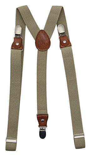 Bioterti Ultimate Suspenders&Bow Tie Set-Men's Y- Band Suspenders+Matching Bowtie For Wedding