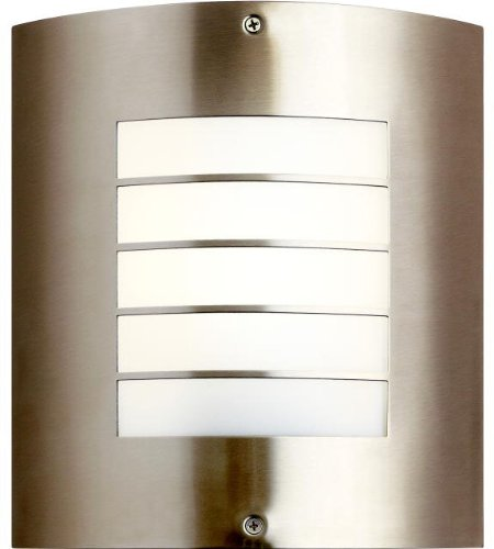 Kichler 10640NI, Newport Outdoor Wall Pocket Sconce Lighting, 18 Watts Fluorescent, Brushed Nickel