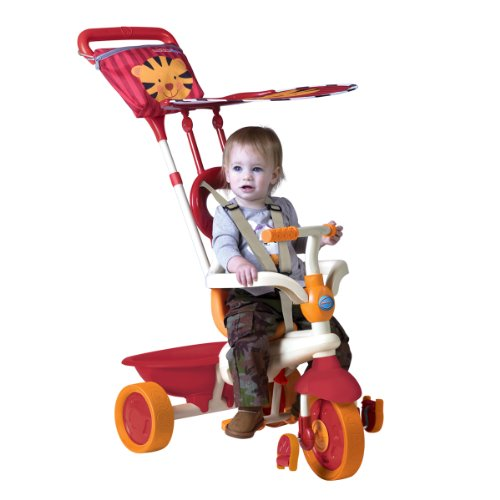 smarTrike Safari Touch Steering 4-in-1 Ride On - Orange/Red Tiger