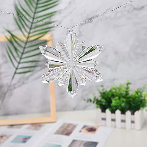 Euone  Snowflake Pendant Clearance , Acrylic Snowflake Christmas Wedding Tree Hanging Decoration Pendant for DIY Painting -