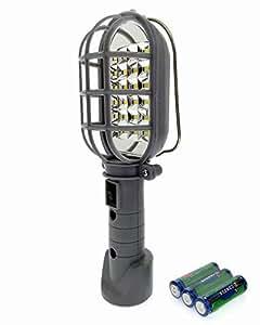 Mountable Ultra-Bright High Intensity 24 LED Powerful Magnetic 360 Degree Rotation Emergency Lamp Work Light -Grey [TE-LT002C]
