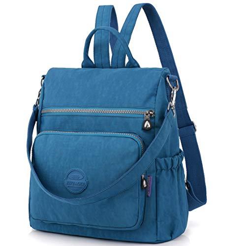Nameblue Women Girls Lightweight Mini Backpack Handbag Waterproof Nylon Bag Shoulder Bags Messenger Cross Body Casual Daypack Multifunction 8631-sky Blue