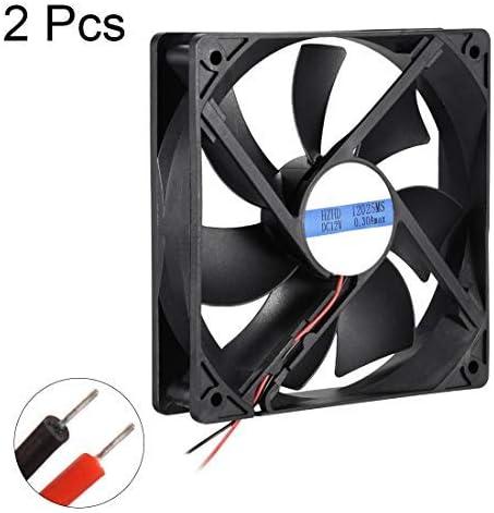 NA 2pcs Cooling Fan 120mm x 120mm x 25mm 12025MS DC 12V 0.3A Long-Life Bearings