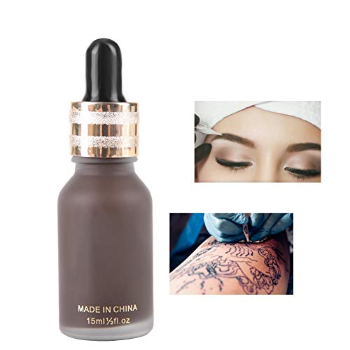 15ml Tattoo Ink, Eyebrow Tattoo Microblading Pigment for Lips and Eyeliner, Semi-Permanent Makeup Ink Supplies for…