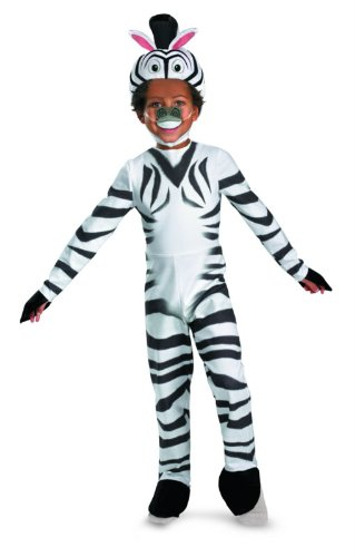 Marty The Zebra Kids Costumes (Madagascar 3 Marty The Zebra Classic Costume, Black/White, Medium (3T-4T))