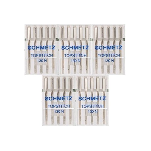 25 Schmetz Topstitch Sewing Machine Needles 130 N Size 90/14 by Schmetz
