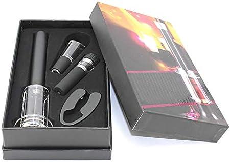 Demarkt - Juego de abrebotellas profesional, sacacorchos, abridor de botellas de vino, abridor, 4 piezas, caja de regalo, negro (schwarz 1), 13.5*5.0*23CM