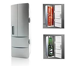 Mini Fridge,Portable Mini USB Fridge Beverage Drink Cans Cooler/Warmer Office Fridge for Home, Laptop,PC or Car