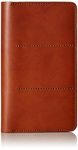 Circa Leathergoods Adult's Circa Unisex Travel Wallet, Papaya, One size