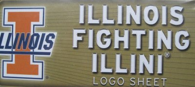 Illinois Fighting Illini Team Logo Wall Decal, Vinyl - Fighting Illinois Illini Dorm