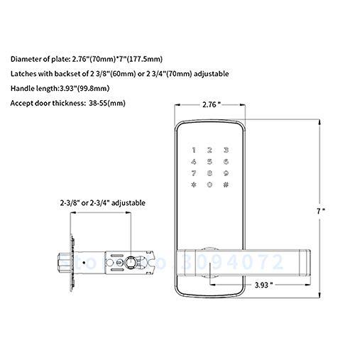 GAOPIN Combination Locks - WiFi Digital Electronic Smart Door Lock App, Smart Home Mobilephone App Intelligent Bluetooth keypad Password Door Lock, Black,3 by GAOPIN (Image #5)