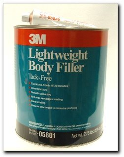 - 3M 05801 Lightweight Body Filler- 102 oz plus 2.75 oz