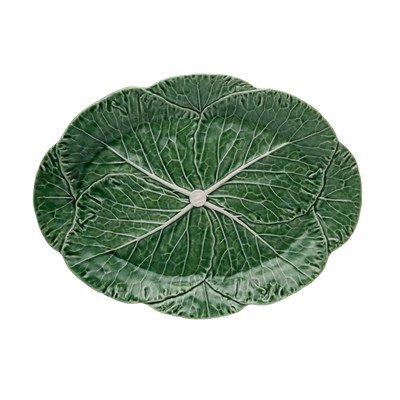 Bordallo Pinheiro Cabbage Green Oval Platter, Large