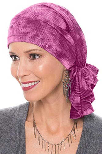 - Slip-On Slinky-Caps for Women with Chemo Cancer Hair Loss Rose Tie Dye Ribbed