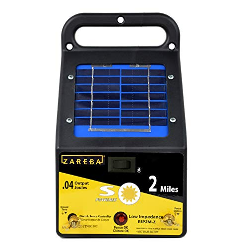 - Zareba ESP2M-Z 2-Mile Solar Low Impedance Electric Fence Charger