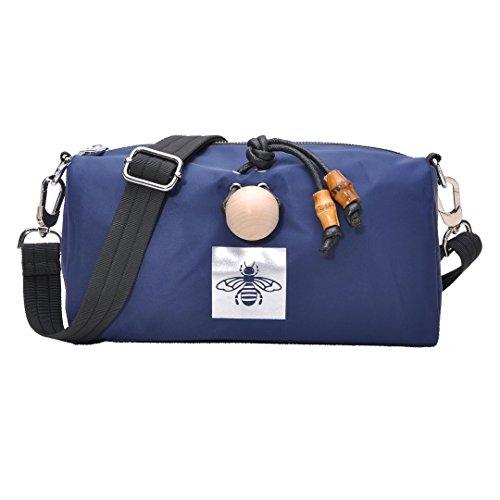 Multi Pocket Shoulder Bag Corss-body Purse Waterproof Nylon Travel Handbags for Women Fashion Waterproof Bag (Blue) by DIYNP (Image #6)
