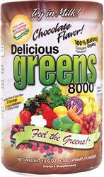 Green Foods Greens World Delicious 8000 Supplement, Choco...