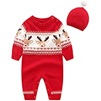 Mornyray Infant Baby Boy Girl Romper Ugly Christmas Sweaters Jumper Clothes