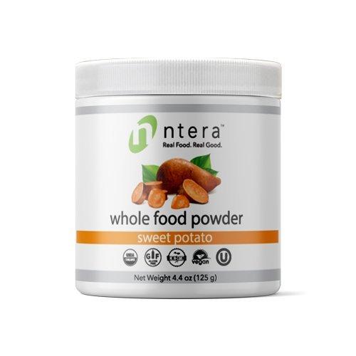 NTERA Sweet Potato Whole Food Powder (USDA Organic, Gluten-Free, Non-GMO, Vegan, Kosher) - Ultra Premium Nutrition (USA, GMP) - 125 Grams (4.4 Ounces)