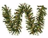 Vickerman 9' x 12'' Mixed Country Pine Garland with 70 Clear lights