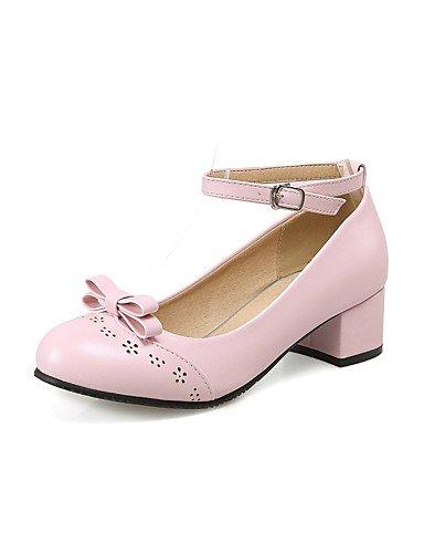 5 Blanco us10 cn43 Casual 5 cn43 Robusto mujer Trabajo Oficina PU de eu42 Azul Rosa 5 pink uk8 Tacones Confort 8 cn42 5 Negro Tacón Zapatos GGX eu41 Puntiagudos 5 uk7 uk8 10 pink us10 pink eu42 y us9 5 g4Caqa