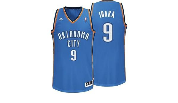 Adidas - Camiseta de Serge Ibaka del equipo de la NBA Oklahoma City (número 9), color azul azul azul Talla:large: Amazon.es: Deportes y aire libre