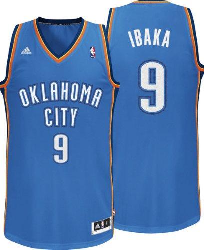 Adidas - Camiseta de Serge Ibaka del equipo de la NBA Oklahoma City (número 9