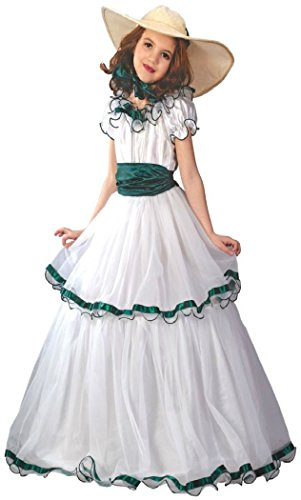 [Girls Southern Belle Kids Child Fancy Dress Party Halloween Costume, L (12-14)] (Southern Belle Child Halloween Costume)
