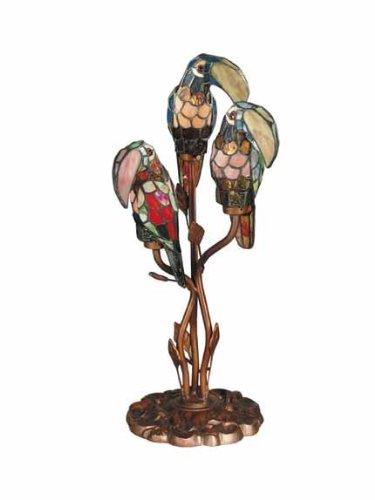 (Dale Tiffany TA60179 Three Parrots Table Lamp, 23.5