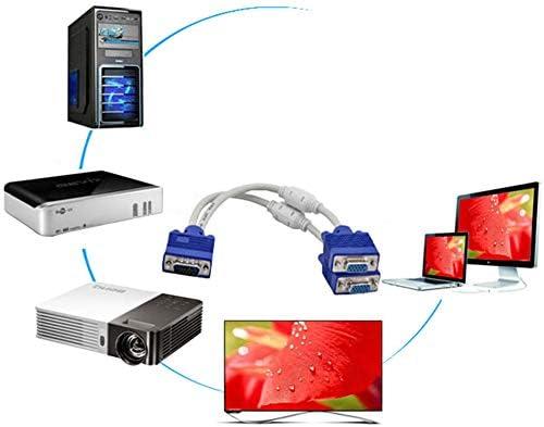 DLINF - Cable Divisor VGA de Ordenador a Monitor Doble, 1 en 2 ...