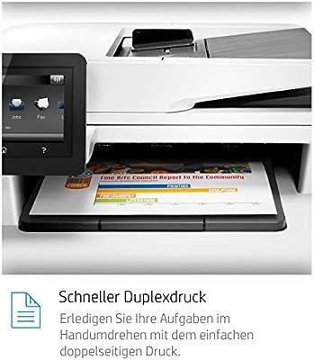 HP Color LaserJet Pro M477fdn Farblaser Multifunktionsdrucker wei/ß Drucker, Scanner, Kopierer, Fax, LAN, ePrint, Airpint, Duplex, USB, 600 x 600 dpi