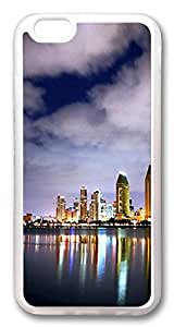 iphone 6 4.7inch Case iphone 6 4.7inch Cases San Diego Skyline 4 TPU Rubber Soft Case Back Cover for iPhone 6 Transparent