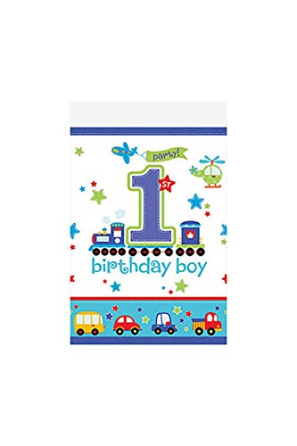 All Aboard! Birthday Party Plastic Table Cover, 1 Piece, Made from Plastic, Birthday, 54
