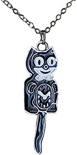 product image for Kit Cat Klock New Black & Silver Necklace