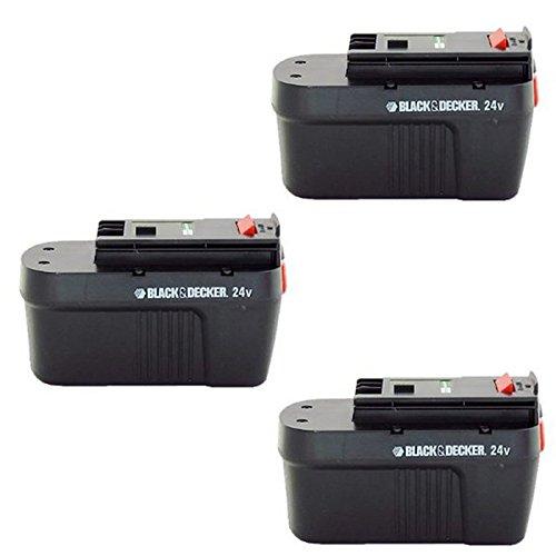 Black & Decker 5103040-11 HPB24 3-Pack 24 Volt NiCad battery pack (Firestorm 24v Battery)