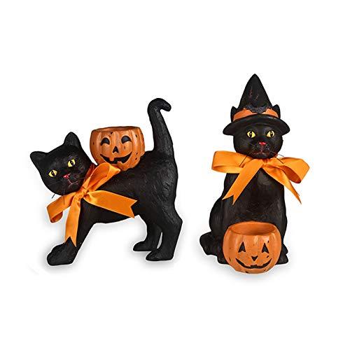 Black Cat Votive Holder Decorations Set of 2 ()