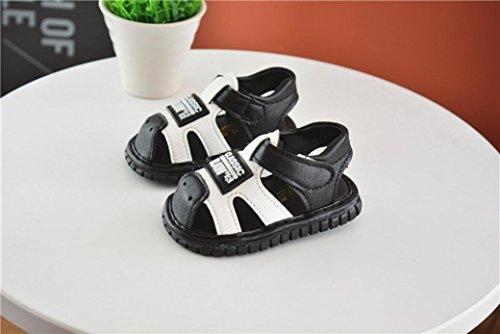 Huhu833 Baby Schuhe, Kleinkind Neugeborene Baby Brief Anti-Rutsch Schuhe Soft Sole quietschende Single Sneaker Sandalen Schwarz