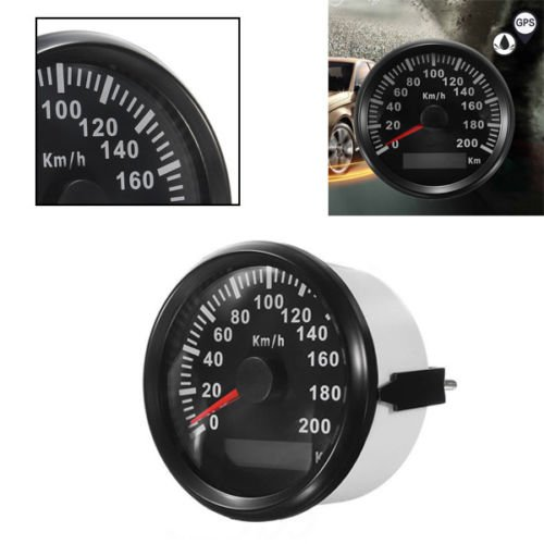 GPS veloc/ímetro od/ómetro 200/km//h para Auto Marino Cami/ón con retroiluminaci/ón 85/mm 12/V//24/V
