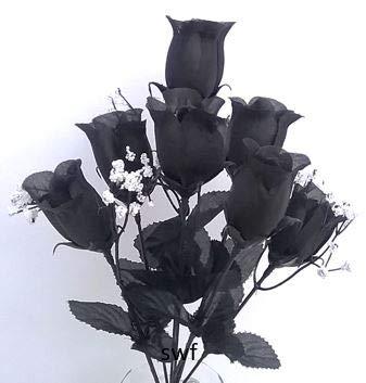 14-Rose-Bud-Bush-Silk-Wedding-Bouquet-Flowers-7-Roses