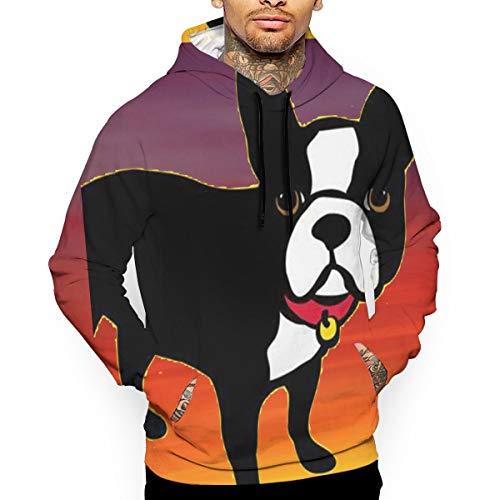 Uyhoijpo Boston Terrier and French Bulldog Fashion Hoodies Unisex 3D Print Most Streetwear -