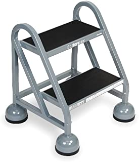 "product image for 18"" H Steel Rolling Ladder, 450 lb. Load Capacity"