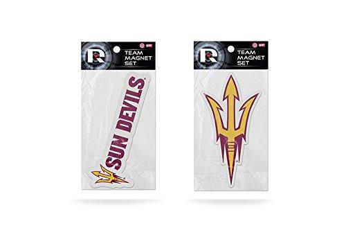 (Rico Industries NCAA Arizona State Sun Devils 2-Pack Die Cut Team Logo Magnet Set)