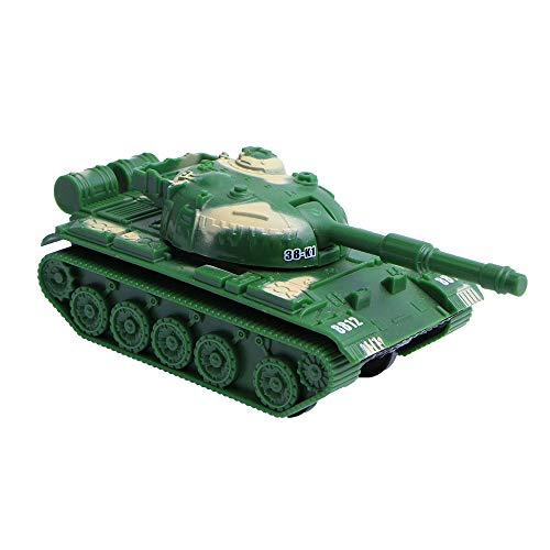 (Myoumobi Pull Back Vehicles Cute Mini Tank Toy Car for 3+ Years Old Boys Girls Educational Toys Creative Gifts Green|Blue|Khaki (Army)
