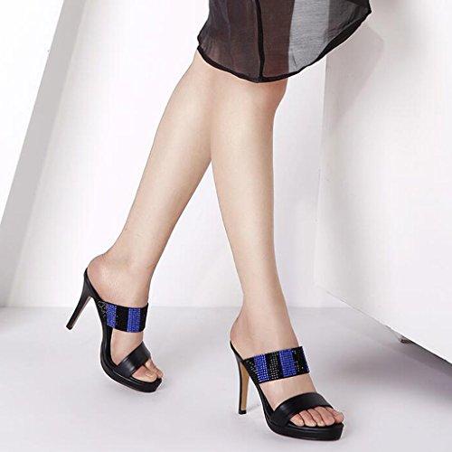Nero Spillo Tacchi Alto tacco Elegante Sexy Impermeabile Tacchi Open Alti Piattaforma A Sandali Sottili Cjc Tacchi Toe a4qn0H1P